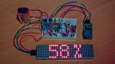 Arduino 32x8 LED matrix test setup