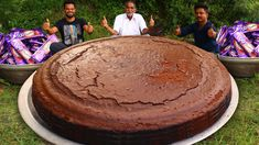 BIGGEST CHOCOLATE CAKE WITH BOURBON BISCUITS PREPARED BY OUR GRANDPA | CHOCOLATE COOKIES CAKE RECIPE - YouTube