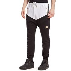 Supply & Demand Angle Ridged Joggers (£30) ❤ liked on Polyvore featuring men's fashion, men's clothing, men's activewear, men's activewear pants, black, mens activewear pants and mens activewear
