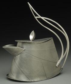 Flatware - Paulette J. Metal Projects, Metal Crafts, Teapots Unique, Teapots And Cups, Mad Hatter Tea, Ceramic Teapots, Pot Sets, Chocolate Pots, Tea Ceremony