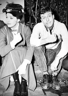 Julie Andrews and Dick Van Dyke, both so awesome haha taking a break from mary poppins!
