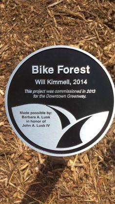 Bike Forest Placard - Downtown Greenway - Greensboro, NC