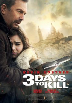 3 Days to Kill, Action movie with poor lonesome hero eliminates danger while getting back together with his sappy family story. A few funny scences lift it up from bottom of the Hollywood pool to a modest average.