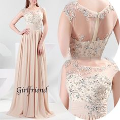 Each of our dress are made to order by hand    Dress code:G0056    Fabric: Chiffon  Embellishment: Beading, sequins  Silhouette: A-Line  Hemline: Floor-Length  Neckline: Halter  Sleeve Length: Sleeveless  Back Details: Zipper-up  Color: see picture    Size: 2,4,6,8,10,12, Custom-made    Each of d...