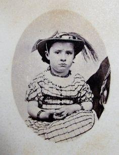 Civil War Era CDV Precious Little Girl in Lovely Dress Hat Matching Bracelets   eBay