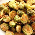 Garlic Parmesan Roasted Brussels Sprouts Recipe Card