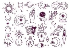 Doodle Tattoo, Doodle Drawings, Cute Drawings, Tattoo Drawings, Mini Tattoos, Cute Tattoos, Sun Doodles, Free Doodles, Magic Doodle