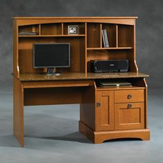 $530.00 Sauder 408951 Graham Hill Computer Desk with Hutch This Sauder Desk comes in an autumn maple finish.  Graham Hill Computer Desk with HutchLarge drawer/s…