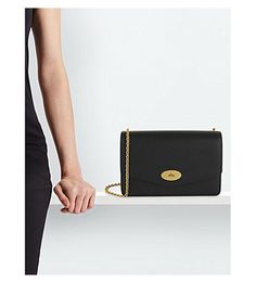 MULBERRY Darley large leather clutch