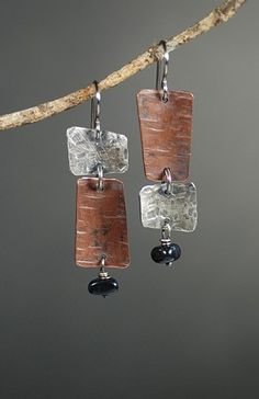 Asymmetrical Groove Earrings by Maggie Joynt