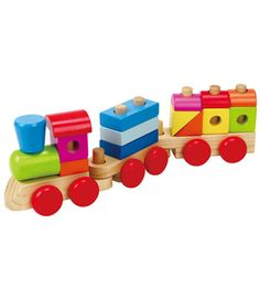 Kiddicare Buzzing Brains Stacking Train. Choo choo!