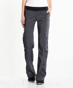 Loving this Black Heather Get Going Pants on #zulily! #zulilyfinds