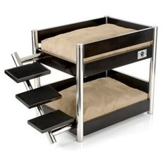 Bunk beds for dogs -- it would be so fun to build one out of nice wood that would be sturdy enough for Spike on the bottom and Apollo on top!