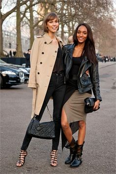 London street style on Karlie and Jourdan.