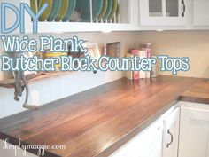 Wide Plank wood Countertops DIY is part of Diy butcher block counter - Welcome to Office Furniture, in this moment I'm going to teach you about Wide Plank wood Countertops DIY Cuisines Diy, Cuisines Design, Kitchen On A Budget, Kitchen Redo, Kitchen Ideas, Kitchen Counter Diy, Kitchen Makeovers, Bathroom Makeovers, Kitchen Images