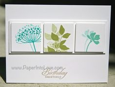 Stampin' Up Summer Silhouettes Birthday Greetings Handmade Card