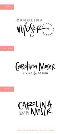 New Brand Design: Carolina Moser – Dapper Fox Design Inspiration Logo Design, Logo Design Trends, Web Design, Brand Design, Identity Design, Brand Identity, Design Logos, Design Layouts, Logo Branding