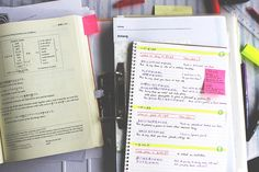 Imagem de notes, hard working, and school