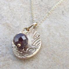 Sun Captured Garnet Bronze Necklace by PamHurst on Etsy, $24.00