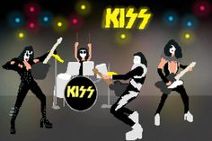 1975. Kiss comes alive by releasing their breakthrough album: Alive! This pushes them to the next level of success and their shows become madhouses of people rocking and rolling all throughout the nite.  Goofy outfits and stuff, whatever. Alive! is awesome.