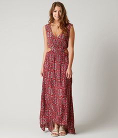$59 Billabong Worlds Collide Dress - Women's Dresses in Sangria | Buckle