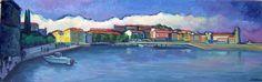 Panorámica de Collioure( France), 2005/ Gouache sobre papel, 105x33 cm/ Guillermo Martí Ceballos