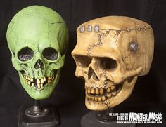 Scary skulls for Halloween decor.
