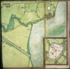 Kaart van Middelburg en Arnemuiden door Jacob van Deventer. Op de getoonde kaart ziet u het dorp Arnemuiden (pas in 1574 verkreeg Arnemuiden stadsrechten). Door het ontbreken van fortificaties ligt het dorp aan de landzijde helemaal open. Opmerkelijk is het grote aantal hoofden voor Arnemuiden. Deze hoofden werden gebruikt voor het laden en lossen van schepen. De hoofden werden genoemd naar de havens waar de schepen vandaan kwamen. In totaal waren er 23 hoofden tussen Arnemuiden en…
