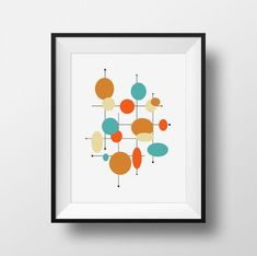 This printable mid century modern artwork will make a darling addition to your retro styled home. Just download, print and display. Add to your decor within minutes! / DETAILS • Choose from many sizes • Designs are printed on matte ultra premium paper using archival quality pigment