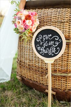 Hot Air Balloon wedding inspiration with amazing details! Captured By: Hello Gorgeous Photography #weddingchicks http://www.weddingchicks.com/2014/07/18/love-is-in-the-air-and-everywhere/