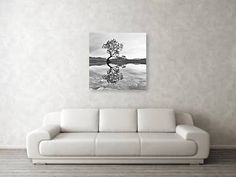 Wall View 003 Landscape Photography Tips, Landscape Photographers, White Photography, Tree Canvas, Canvas Wall Art, Black And White Landscape, Thing 1, Stretched Canvas Prints, Tree Art