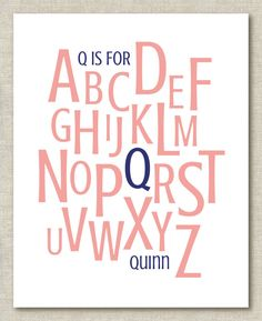 Custom Personalized Nursery Baby Child Name Alphabet by theps, $15.00