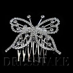 Beautiful Butterfly Rhinestone Combs / Outdoor Headpiece
