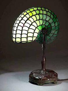 Tiffany nautilus lamp | Vintage Lighting | Pinterest | Nautilus ...