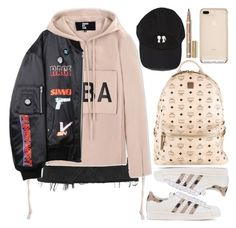 """Korean teenage street style"" by btrouble95 ❤ liked on Polyvore featuring Topshop, Hood by Air, Hyein Seo, adidas Originals, MCM, StreetStyle, koreanstyle and teenagestyle"