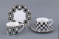 Кухня ручной работы. Ярмарка Мастеров - ручная работа. Купить Красивая чайная пара в стиле Арт-Деко. Handmade.