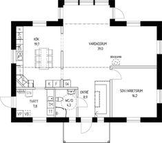 Stensö - ETT SMART HUS lämnar så lite avtryck som möjligt Floor Plans, How To Plan, Interior Design, Architecture, Scale Model, House, Nest Design, Arquitetura, Home Interior Design