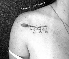 Creative Broomstick Designer Tattoo Idea From Harry Potter