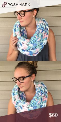 Cotten Candy Infinity Scarf Handmade by me! Super chunky infinity scarf/cowl! Insanely soft and super cozy for the upcoming winter months! I can also do custom orders! :) this is in the color Cotton Candy Accessories Scarves & Wraps
