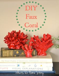 diy-faux-coral, pottery-barn-knock-off coral