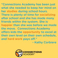 Kathy shared how her daughter still has opportunities to socialize in online school, without distracting her from learning!