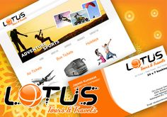 After designing the corporate identity for their event management company Lotus Events, the clients delightfully came back to us for corporate identity designing and a website for their Tours and Travels division. They wanted a logo which was in sync with their business and has a modern look to it.