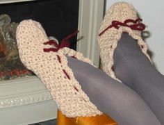 Grammy's Workbasket: My Grandma's Crocheted Slippers Pattern