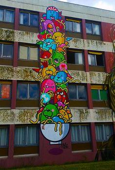 Street Art City de Lurcy-Lévis, France. #streetart #arturbain #graffiti