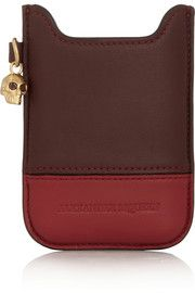 Alexander McQueen Two-tone leather Blackberry case