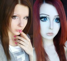 Personalities undergone #surgery to look like doll