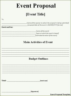 party planner template | Click on the download button to get this Event Proposal Template.