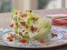 Lettuce Wedge with Blue Cheese Dressing Recipe : Trisha Yearwood : Food Network - FoodNetwork.com