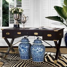 This classic Campaign Desk evokes the old world charm of Plantation Living, lending beauty & timeless character to any home. Shop on-line or through an appointed Designer or Distributor West Indies Decor, West Indies Style, Campaign Desk, Campaign Furniture, Estilo Colonial, British Colonial Decor, Tropical Decor, Tropical Interior, Decoration