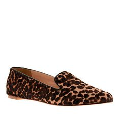 J.Crew leopard loafers